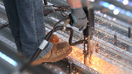 stud welding installation